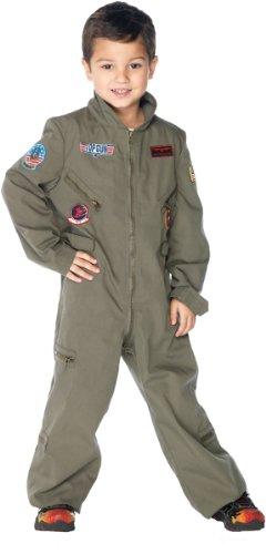 [Top Gun Boys Flight Suit Costume - Large] (Top Gun Costume Patches)