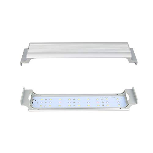 GOOBAT LED Aquarium Light for Planted Fish Tanks, White & Blue & Red LED Lighting System, 12-Inch, 8.5W