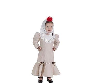 Creaciones Llopis Disfraz de Chulapa Beige para bebé: Amazon.es ...