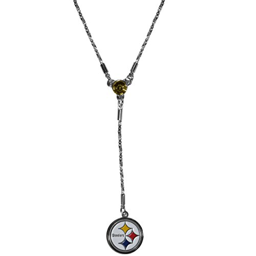 (Siskiyou NFL Pittsburgh Steelers Lariat Necklace, Black,)