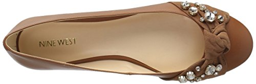 Nine Natural Loafer Dark Women's Dark Flat Leather West Natural Maudisa r1BxqrZ
