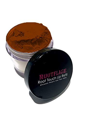 (Root Touch Up Hair Powder - Temporary Hair Color, Root Concealer, Thinning Hair Powder and Concealer Refill Jar with Detail Brush Included, .31 oz (DARK COPPER RED))