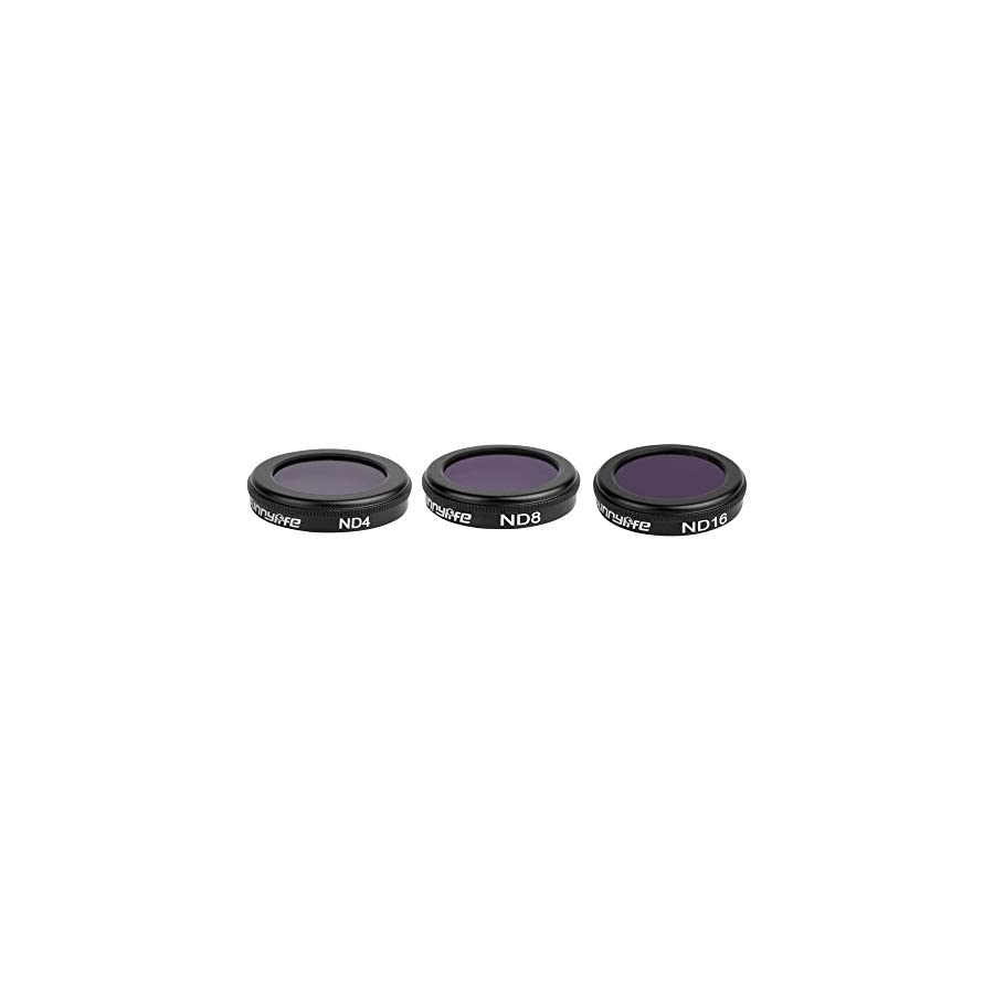 [2019 Upgraded] 3 in 1 Camera Filter Lens Set for DJI Mavic 2 Zoom Drone FPV (Combo: ND4+ND8+ND16)