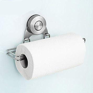 Soporte de papel de cocina de acero inoxidable para papel de seda, dispensador de toallas de papel, herramienta de cocina: Amazon.es: Hogar
