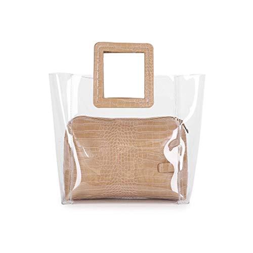 Barabum Classy Waterprof Clear Tote Beach Shoulder Crossbody Bag ()