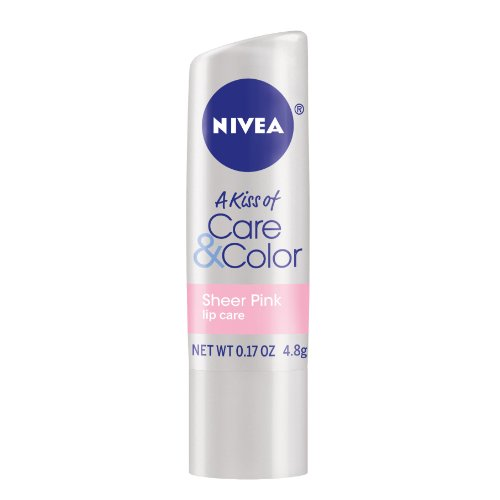 Nivea Kiss Of Care Sheer Size .17z Nivea Kiss Of Care Sheer Pink .17z