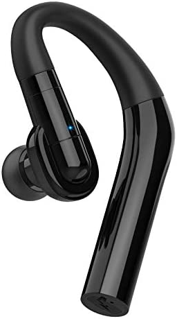 Bluetooth Headset V5.0 Business Wireless Handsfree Earpiece with Microphone,15Hrs Talking 240Hrs Standby Time Wireless Bluetooth Earpieces for iPhone, Samsung, PC, Android, Laptop, Trucker Driver