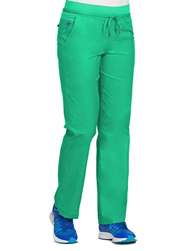 Med Couture Signature 8715 Women's Flex-It Yoga Scrub Pant Spearmint/New Navy M by Med Couture