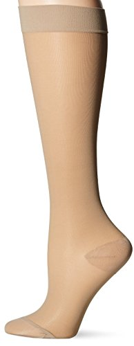 (Dr. Scholl's Women's Sheer Moderate Support Socks,  Beige, Shoe size 5.5-7.5 (Medium))