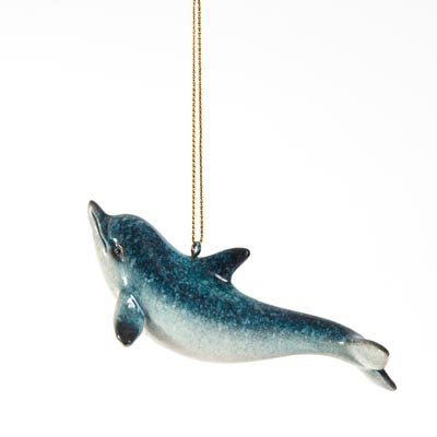 Sprinkles Gifts Dolphin Hanging Ornament Christmas Tree Beach Coastal Nautical Decoration Decor
