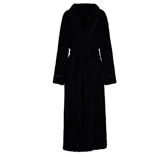 chic Artfasion Womens Long Thick Fleece Robe Warm Waist Belt Plush Bathrobe 27a145810