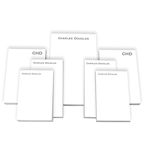 Personalized Executive Cards - Personalized Executive 7-Tablet Set - White