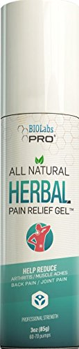Nerve Pain - All Natural Herbal Pain Relief Gel - Powerful Pain Relief Cream for Sore Muscles Arthritis Sciatica - 6% Menthol Oil and 2% Camphor Oil ()