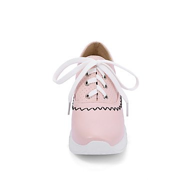 Cómodo y elegante soporte de zapatos de las mujeres pisos primavera verano otoño invierno otros cuero sintético oficina y carrera vestido casual soporte de talón cordones negro rosa blanco rosa