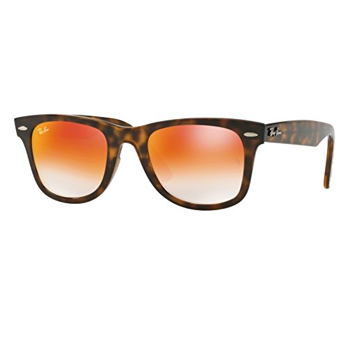 Ray-Ban Plastic Unisex Non-Polarized Iridium Square Sunglasses, Havana, 50 - Lenses Is Iridium What