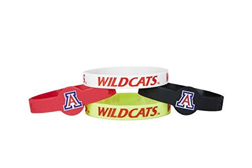 (aminco NCAA Arizona Wildcats Silicone Bracelets, 4-Pack)