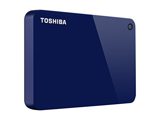 - Toshiba Canvio Advance 1TB Portable External Hard Drive USB 3.0, Blue (HDTC910XL3AA)