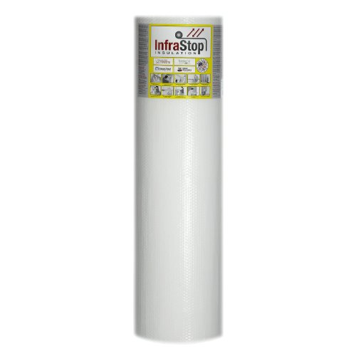 "InfraStop 48"" X 50' White Double Bubble Reflective Foil I..."