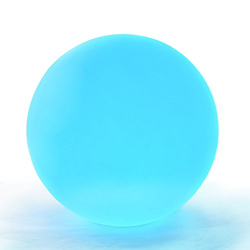 LED Light Ball: 6-inch LOFTEK Cordless Night Lights with Remote Control, Rechargeable Pool light, RGB Color Changing Floating Orb (Christmas Cordless Tree Lights)
