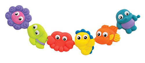 Playgro Pop and Squirt Buddies (6pcs) for Baby Infant Toddler Children 0184962, Playgro is Encouraging Imagination with STEM/STEM for a Bright Future - Great Start for a World of Learning