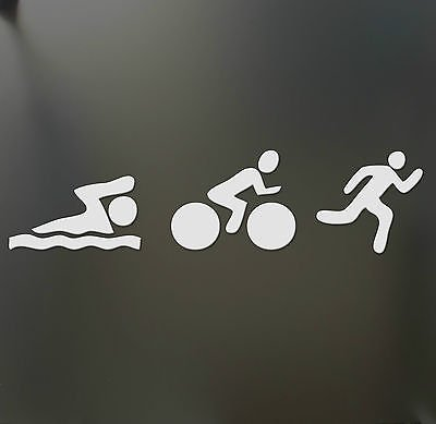 Triathlon Sticker Swim Bike Run ironman Car window or - Costume Triathlon