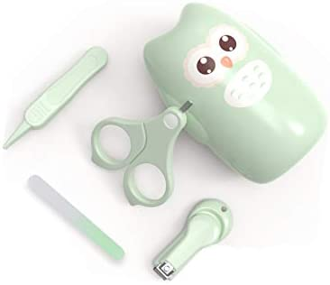 31AiEfvigNL. AC Baby Nail Kit, 4-in-1 Baby Nail Care Set with Cute Case, Baby Nail Clipper, Scissors, Nail File & Tweezers,Owl Green Baby Manicure Kit and Pedicure kit for Newborn, Infant, Toddler, Kids Gifts    4 in 1 Include:Fingernail clippers,scissors,nail file,and tweezer are packed in one set. Everything needed for a baby manicure set is here.Cute and Functional.This is an entire baby grooming kit containing a baby nail clipper, a baby scissor, a baby nail file and a baby tweezer. Equips with cute and protection case, which helps anti-dust and easy to storage and carry. * Made of good-grade ABS and stainless steel. * Odorless * Rust-free * Non-toxic LIFETIME MONEY BACK GUARANTEE: We absolutely guarantee if you're less than 100% satisfied, please get in touch with us for a replacement or full refund at any time for any reason. We won't just say try our products but we're truly dedicated to your satisfaction