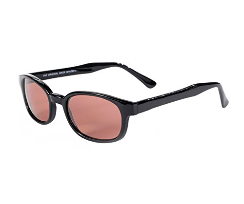 X KD Sunglasses Rose Colored Tint Glasses Biker Shades Large Size - Shades Biker