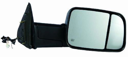 Depo 334-5419R3EFH1 Dodge RAM 1500/2500/3500 Passenger Side Textured Heated Power Towing Mirror with Turn Signal, Puddle Lamp