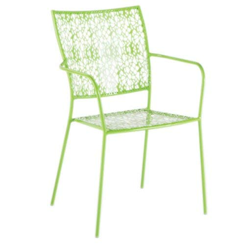(Alfresco Home Martini Stackable Bistro Chair, Key Lime, Set of 2)