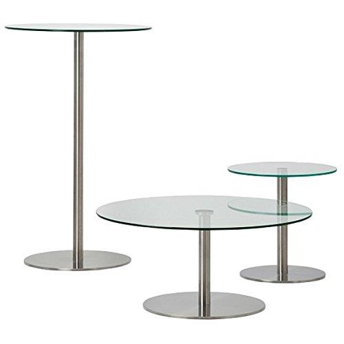 Cascando Stainless Mehrzwecktisch, verschiedene Ausführungen - 72 x 90 cm | Satiniertes Glas