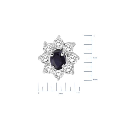 Miore - MA948ZE - Boucles d'Oreilles Femme - Or Blanc 375/1000 (9 carats) 0.86 gr - Saphir