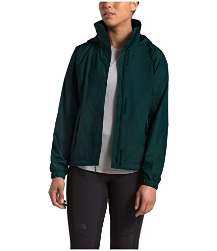Covered Face - The North Face Women's Resolve Jacket, Ponderosa Green, L