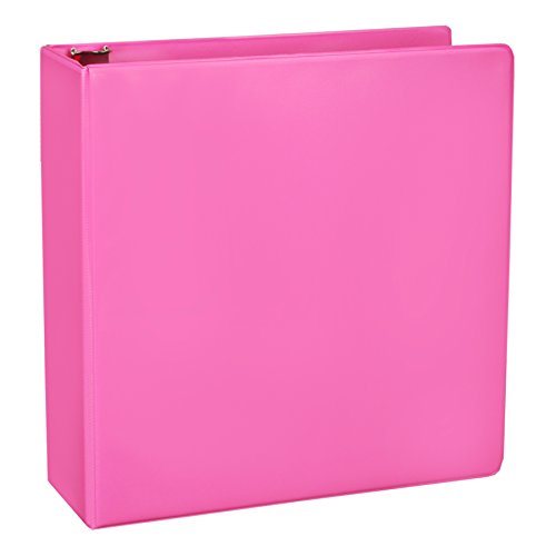 Samsill Fashion Color Durable 3 Ring View Binders, 2 Inch Round Ring, Customizable Clear View Cover, Berry Pink, Two Pack
