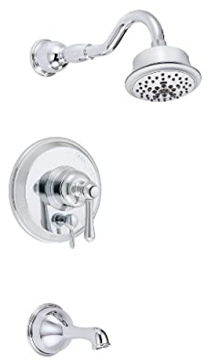 Danze D502257T Opulence Single Handle Tub and Shower Trim Kit, 2.5 GPM, Valve Not Included, Chrome