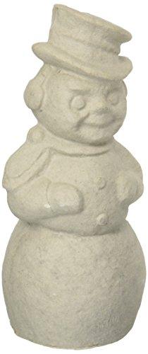 Bare Naked Crafts PO2-HO-010010 Paper Mache Button Eye Snowman, 12.5