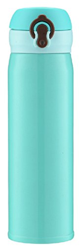 Steel Vacuum Insulated Water Bottle Wide Mouth 32 oz Capacity Double Wall Design 100% Leak & Sweat Proof - Includes water bottles Cap (Blue)