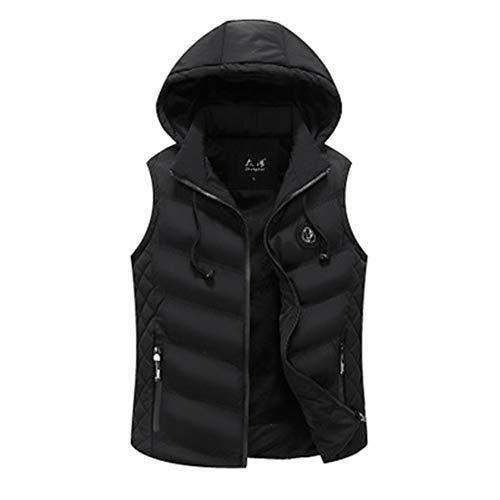 a7f086fe1ca Quality.A Men's Hooded Down Jacket Warm Winter Jacket Sleeveless Down  Vest(Black XXX