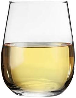 Argon Tableware 12 Pieza Corto sin pie Copas de Vino Set - Estilo Moderno de Cristal Vasos para Rojo, Vino Blanco - 360ml
