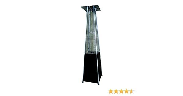 Estufa de Terraza Pirámide negra BUTSIR 227 cm 13 kW