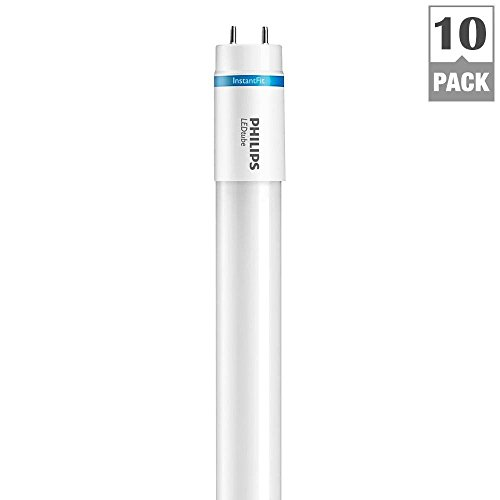 InstantFit 2 ft. T8 8.5-Watt Cool White (4000K) Linear LED Light Bulb (10-Pack)