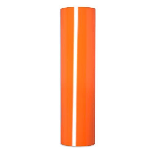 Orange Heat Transfer Vinyl,PU HTV Iron-on Vinyl Heat Transfer Vinyl Roll for T-Shirts ?Idea Fabrics or Heat Press Machine 0.8x5ft (Orange)