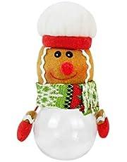 AVBXAWGU Christmas Candy Jar 1Pcs Santa Claus Snowman Candy Jar Empty Chocolate Cookie Candy Box Storage Bottle DIY New Year Christmas Party Favors B05doll