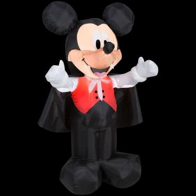 HALLOWEEN DECORATION LAWN YARD INFLATABLE AIRBLOWN DISNEY VAMPIRE MICKEY MOUSE 42