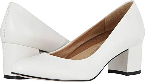 Heels Cashmere Leather - Walking Cradles Womens Jessica White Cashmere 8 M (B)