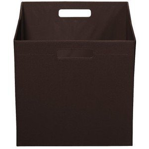 Superbe Itso Full Size Fabric Storage Bin Brown