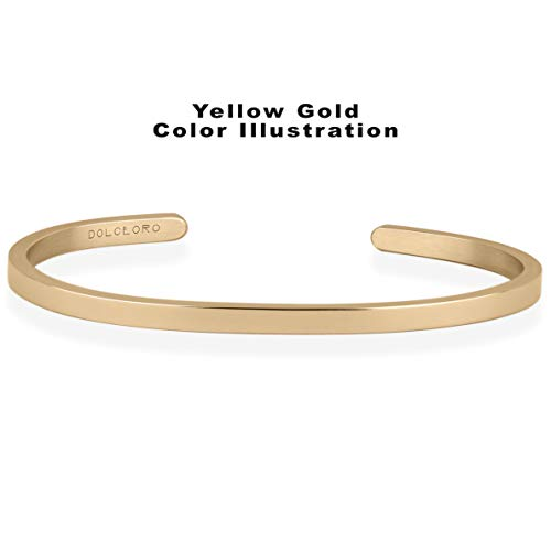 Dolceoro I Love You More - Inspirational Mantra Bracelet Jewelry 316L Surgical Stainless Steel by Dolceoro (Image #2)