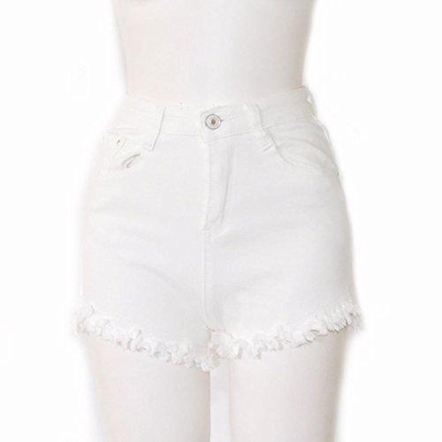 人形経度ピットRaDonna ホワイトデニムショートパンツ R7826