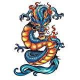 "Dragon Ink Temporary Tattoos, 10 Fantastic Dragon tattoos, 3.5"" x 2.5"" sheets"