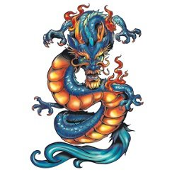 Dragon Ink Temporary Tattoos Fantastic product image