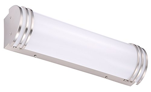 Cloudy Bay LED Bath Vanity Light 24-inch 4000K Cool White,Dimmable 24W,Brushed Nickel by Cloudy Bay